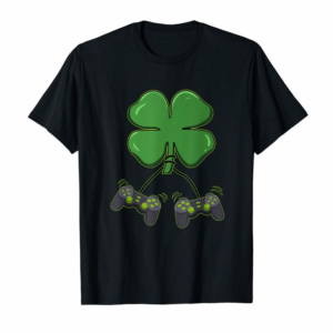 Buy Now Clover Video Game Controllers St Patricks Day Boys Girl Kids T-Shirt