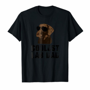 Buy Mens Coolest Lab Dad T Shirt Funny Chocolate Labrador Dad Shirt
