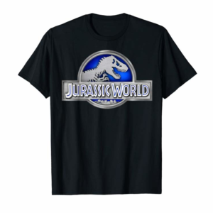 Buy Now Jurassic World Classic Blue Glow Fossil Logo Graphic T-Shirt