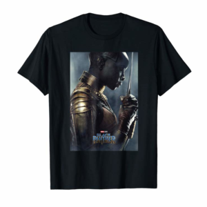 Adorable Marvel Black Panther Avengers Okoye Poster Graphic T-Shirt