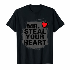 Adorable Mr. Steal Your Heart Valentine's Day Shirt Boys Son Gifts T-Shirt