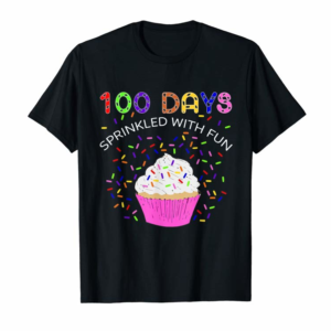 Cool 100 Days Sprinkled With Fun 100th Day Of School Boys Girls T-Shirt