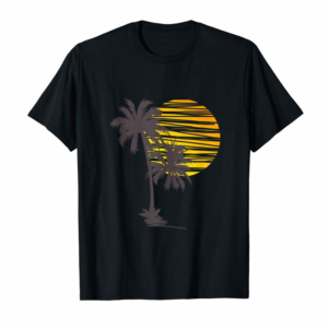 Adorable Sunset Beach Palm Tree TShirt Cute Summer Vacation Holiday Tank Top