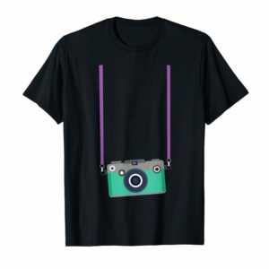 Trends Fake Tourist Camera Graphic Holiday Vacation Photographer T-Shirt