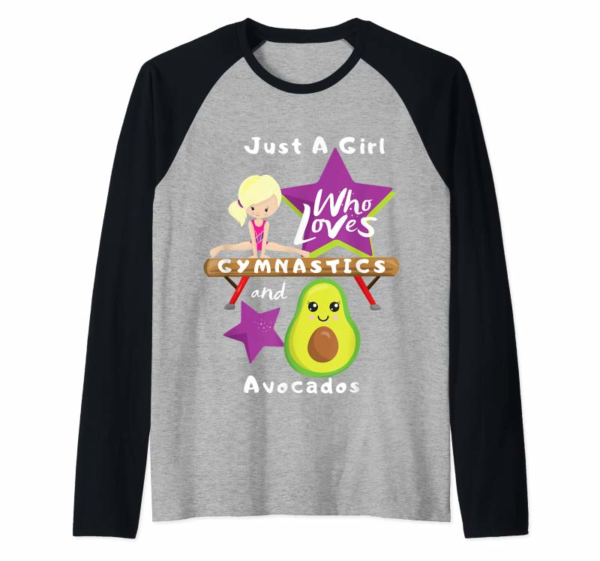Trends Just A Girl Who Loves Gymnastics And Avocados Gift T-Shirt