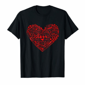 Buy Now Kids Valentines Day Shirt For Girls Cute Pink Red Heart Words Kid