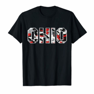 Adorable State Of Ohio Ohioan Distressed Camo Graphic Design T-Shirt