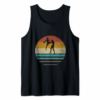 Adorable Retro Vintage Sunset Muay Thai Silhouette Cute Funny Gift Tank Top