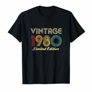 Buy 1980 40th Birthday Gift Vintage Limited Edition Men Women Tank Top