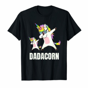 Adorable Dadacorn Dabbing Unicorn Dad And Baby Funny Gift For Papa T-Shirt
