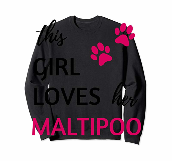 Trends Maltipoo Gift Shirt - This Girl Loves Her Maltipoo T-Shirt