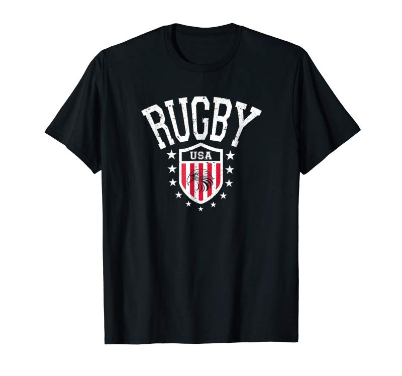 Order Now Vintage Rugby USA Eagle Shield T-shirt