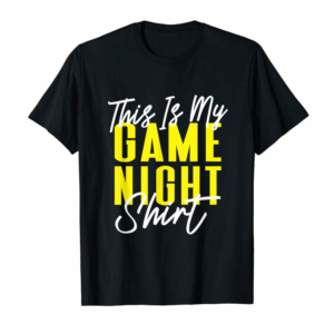 Adorable This Is My Game Night Shirt Playing Cards Board Games T-Shirt
