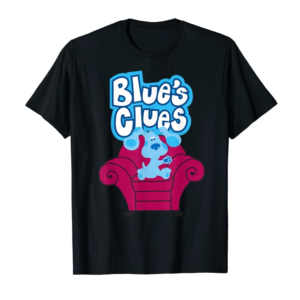 Cool Blue's Clues On Red Sofa T-Shirt