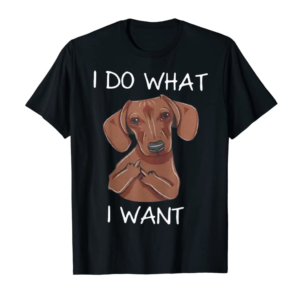Order Dachshund I Do What I Want Funny Dachshund T-shirt