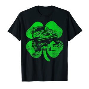 Adorable St Patrick's Distressed Shamrock Off Road Men Women Gift T-Shirt
