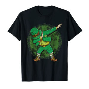 Shop St Patricks Day Boys Shirt Dabbing Leprechaun Irish Gift