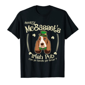 Trends Funny Basset Hound St.Patricks Gifts For Men Women Mom Kids T-Shirt
